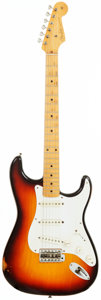 Musical Instruments:Electric Guitars, 1958 Fender Stratocaster Sunburst Solid Body Electric Guitar, Serial # 028222. ...