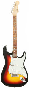 Musical Instruments:Electric Guitars, 1964 Fender Stratocaster Sunburst Solid Body Electric Guitar, Serial # L26467. ...