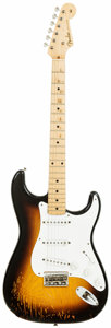 Musical Instruments:Electric Guitars, 1956 Fender Stratocaster Sunburst Solid Body Electric Guitar, Serial #10269. ...