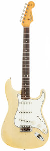 Musical Instruments:Electric Guitars, 1965 Fender Stratocaster Blonde Solid Body Electric Guitar, Serial# 108016....