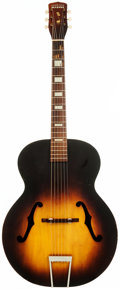 Musical Instruments:Acoustic Guitars, 1950's Harmony Master Sunburst Archtop Acoustic Guitar, Serial # 4759 H 9 45....