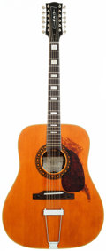 Musical Instruments:Acoustic Guitars, 1960's EKO Ranger Natural 12 String Acoustic Guitar, Serial # 390584....
