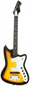 Musical Instruments:Electric Guitars, Circa 1964 Silvertone Silhouette Sunburst Solid Body ElectricGuitar....