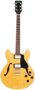 Musical Instruments:Electric Guitars, 1980's Yamaha SA-800 Natural Semi-Hollow Body Electric Guitar, Serial # 120689....