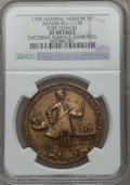 Betts Medals, 1739 Admiral Vernon, Fort Chagre -- Excessive Surface Hairlines --NGC Details. XF. Betts-Unlisted, Adams-FCv-11-M.. From ...
