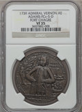 Betts Medals, 1739 Admiral Vernon, Fort Chagre VF35 NGC. Betts-275,Adams-FCv-5-D. Brass, 38 mm.. From The Marlor Collection....