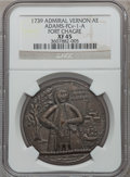 Betts Medals, 1739 Admiral Vernon, Fort Chagre XF45 NGC. Betts-277,Adams-FCv-1-A.. From The Marlor Collection....