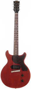 Musical Instruments:Electric Guitars, 1958 Gibson Les Paul Junior Cherry Solid Body Electric Guitar,Serial # 7159....