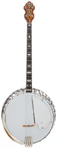 Musical Instruments:Banjos, Mandolins, & Ukes, 1920's Bacon and Day Silver Bell No. 1 Natural Tenor Banjo, Serial # 25614. ...