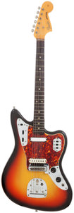 Musical Instruments:Electric Guitars, 1965 Fender Jaguar Sunburst Solid Body Electric Guitar, Serial # L87531....