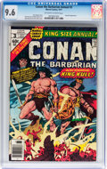 Bronze Age (1970-1979):Superhero, Conan the Barbarian Annual #3 (Marvel, 1977) CGC NM+ 9.6 Off-white to white pages....