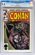 Modern Age (1980-Present):Superhero, Conan the Barbarian Annual #10 (Marvel, 1986) CGC NM/MT 9.8 Whitepages....
