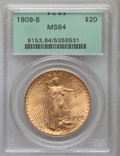 Saint-Gaudens Double Eagles, 1909-S $20 MS64 PCGS....