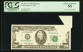 Error Notes:Foldovers, Fr. 2077-B $20 1990 Federal Reserve Note. PCGS Choice About New55.. ...