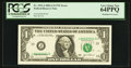 Error Notes:Shifted Third Printing, Fr. 1931-J $1 2003A Federal Reserve Note. PCGS Very Choice New 64PPQ.. ...