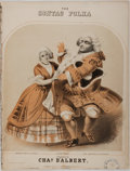 Books:Music & Sheet Music, Charles D'Albert. The Sontag Polka Sheet Music From In Elisir D'Amour With Lithographic Illustration. ...