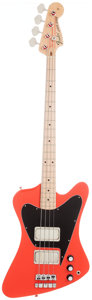 Musical Instruments:Bass Guitars, 2011 John Entwistle Fenderbird Tribute Fiesta Red Electric Bass Guitar, Serial # 0016. ...