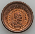 U.S. Presidents & Statesmen, General Grant Counterstamp on an 1850 Large Cent, MS63 Red andBrown Uncertified.. From The Marlor Collection....