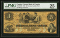 Canadian Currency: , Toronto, CW- Colonial Bank of Canada $3 Apr. 4, 1859 Ch. #130-10-02-06. ...