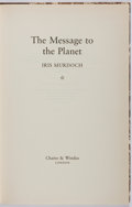 Books:Fiction, Iris Murdoch. SIGNED/LIMITED. The Message to the Planet.Chatto & Windus, 1989. First edition limited to 150 h...