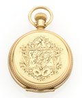 Timepieces:Pocket (post 1900), Agassiz 14k Gold Hunter's Case Pocket Watch. ...