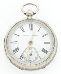 Timepieces:Pocket (pre 1900) , Kendal & Dent Lever Fusee Silver Pocket Watch. ...
