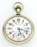 Timepieces:Pocket (post 1900), Hamilton 21 Jewel Series 992 Open 24 Hour Pocket Watch. ...