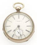 Timepieces:Pocket (pre 1900) , Tremont Watch Co. 18 Size Coin Silver Pocket Watch. ...