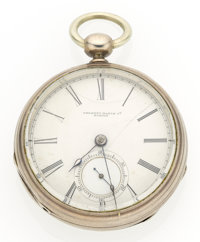 Tremont Watch Co. 18 Size Coin Silver Pocket Watch