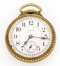 Elgin 23 Jewel Veritas Open Face Pocket Watch