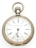 Timepieces:Pocket (post 1900), Waltham 17 Jewel Coin Silver Crescent St. Pocket Watch. ...