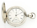 Timepieces:Pocket (pre 1900) , Elgin 17 Jewel Coin Silver Hunter's Case Pocket Watch. ...