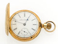 Timepieces:Pocket (post 1900), Auora Watch Co. 17 Jewel Hunter's Case Pocket Watch. ...