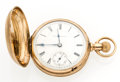 Timepieces:Pocket (pre 1900) , Columbia Watch Co. Transitional Gold Hunter's Case Pocket Watch. ...
