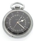 Timepieces:Pocket (post 1900), Hamilton Military 22 Jewel 4992 B Open Face Pocket Watch. ...
