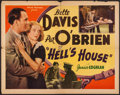 "Movie Posters:Crime, Hell's House (Astor, R-1937). Half Sheet (22"" X 28""). Crime.. ..."