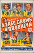 "Movie Posters:Drama, A Tree Grows in Brooklyn (20th Century Fox, 1945). One Sheet (27"" X41"") Style A. Drama.. ..."