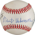 Baseball Collectibles:Balls, Giamatti, Ueberroth and Bobby Brown Multi Signed Baseball....