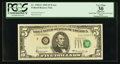 Error Notes:Shifted Third Printing, Fr. 1969-G $5 1969 Federal Reserve Note. PCGS Apparent Very Fine 30.. ...