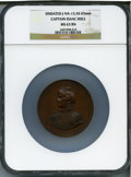 U.S. Mint Medals, Captain Isaac Hull MS63 Brown NGC. Julian-NA-12. Bronzed copper, 65 mm.. Ex: Baltimore Auction (Bowers & Merena, 11/2010),...