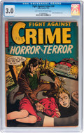 Golden Age (1938-1955):Horror, Fight Against Crime #20 (Story Comics, 1954) CGC GD/VG 3.0 Lighttan to off-white pages....