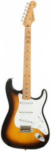 Musical Instruments:Electric Guitars, 1956 Fender Stratocaster Sunburst Solid Body Electric Guitar,Serial # 10220....