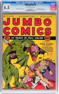 Golden Age (1938-1955):Science Fiction, Jumbo Comics #10 (Fiction House, 1939) CGC FN+ 6.5 Tan to off-whitepages....
