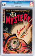Golden Age (1938-1955):Horror, Mister Mystery #12 (Aragon, 1953) CGC VG/FN 5.0 Cream to off-whitepages....