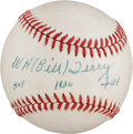 Baseball Collectibles:Balls, Bill Terry Single Signed Baseball....