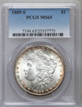 Morgan Dollars, 1889-S $1 MS65 PCGS. VAM-7....