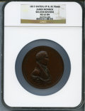 """U.S. Mint Medals, """"1817"""" James Monroe, Second Reverse MS63 Brown NGC. Julian-IP-8. Bronzed copper, 76 mm.. From The Marlor Collection...."""