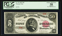 Fr. 376 $50 1891 Treasury Note PCGS Apparent Choice About New 58