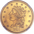Classic Quarter Eagles, 1839-O $2 1/2 -- Obverse Repaired -- NGC Details. Unc. Breen-6152,Variety 27....
