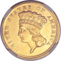 Three Dollar Gold Pieces, 1854-D $3 -- Improperly Cleaned -- NGC Details. AU....